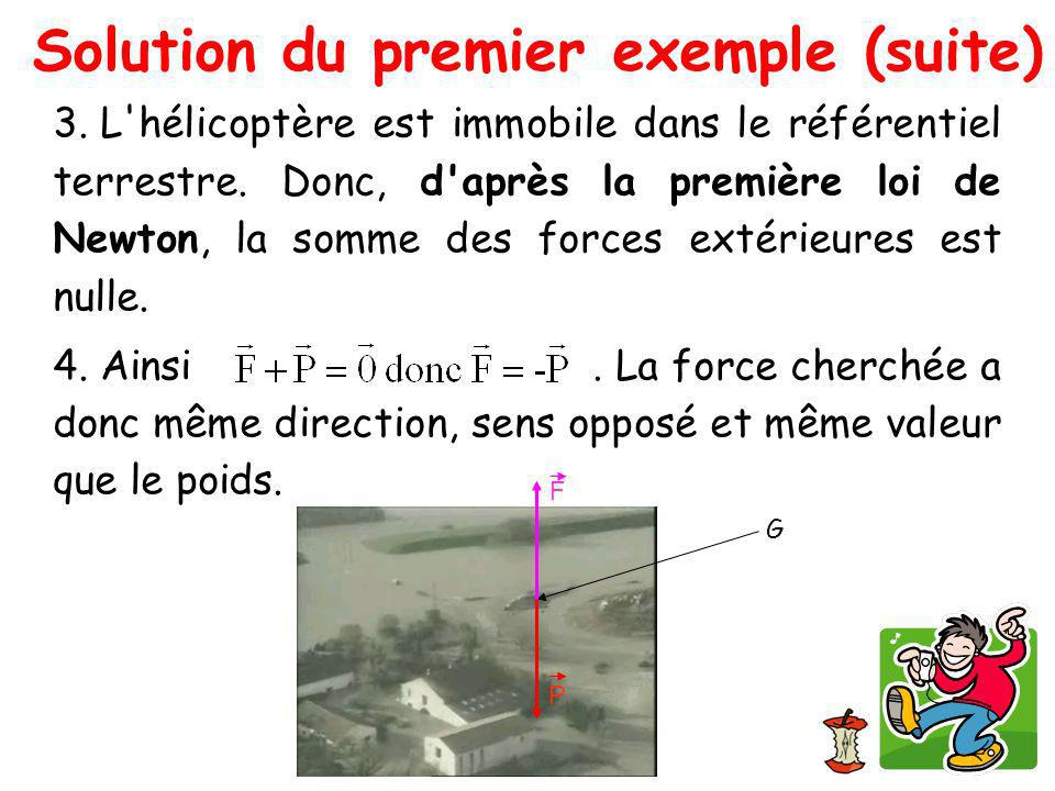 Solution du premier exemple (suite)‏