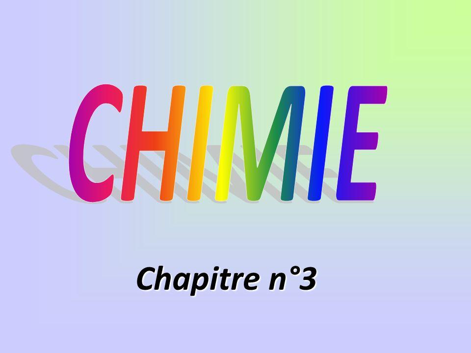 CHIMIE Chapitre n°3