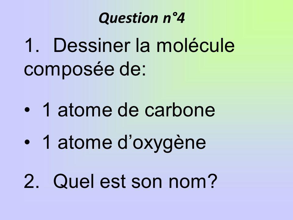 1. Dessiner la molécule composée de: