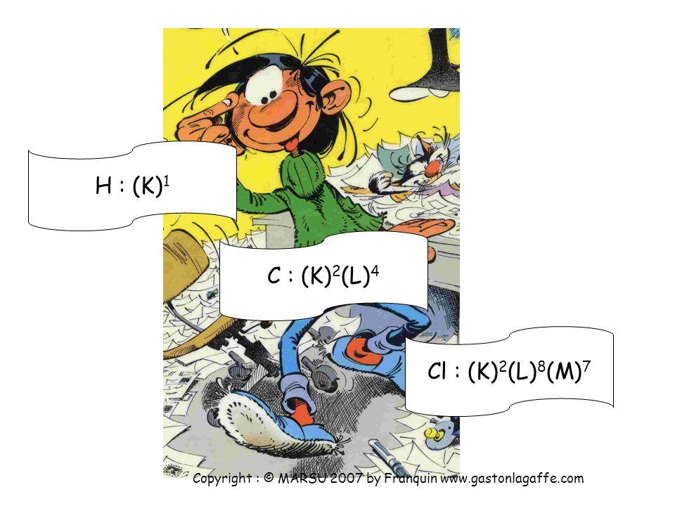 H : (K)1 C : (K)2(L)4 Cl : (K)2(L)8(M)7