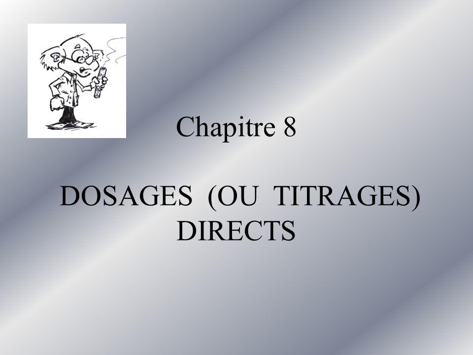 Chapitre 8 DOSAGES (OU TITRAGES) DIRECTS