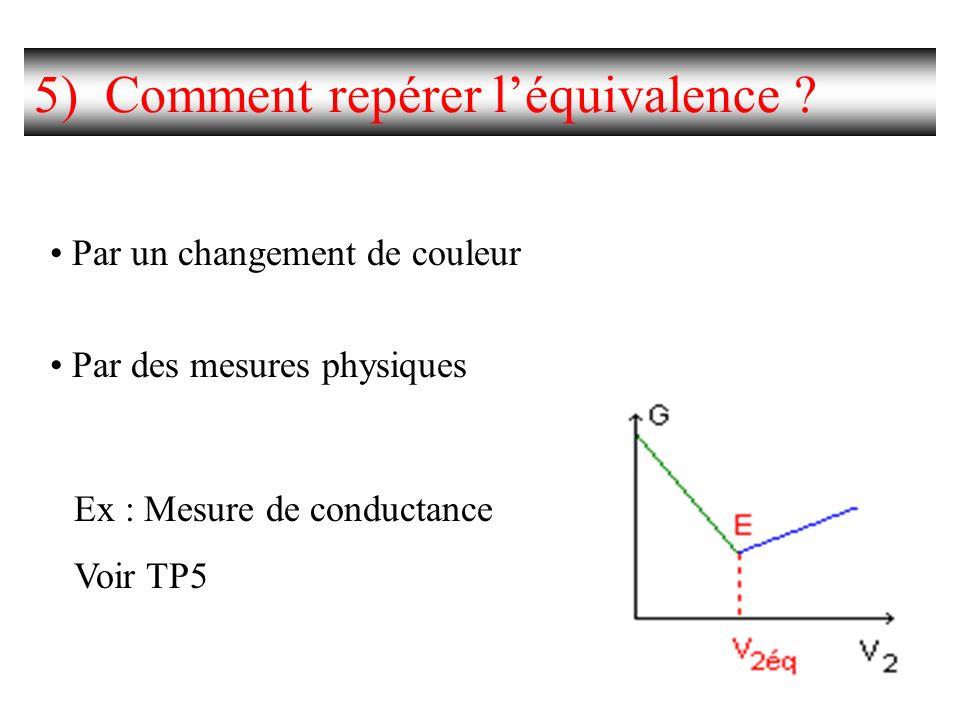 5) Comment repérer l'équivalence