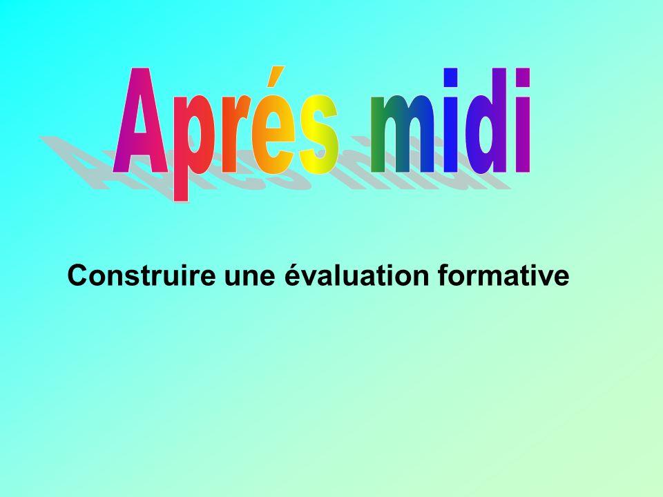 Aprés midi Construire une évaluation formative