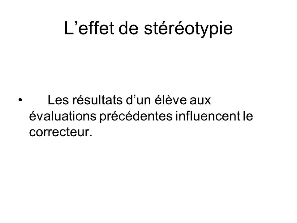 L'effet de stéréotypie
