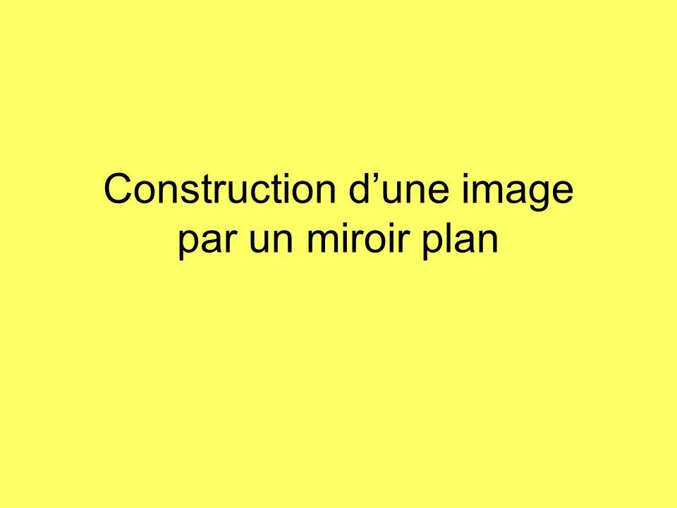 Construction d'une image par un miroir plan