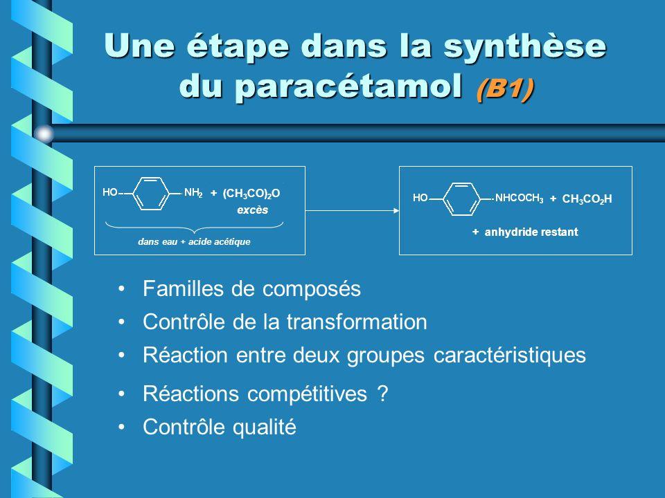 Une étape dans la synthèse du paracétamol (B1)