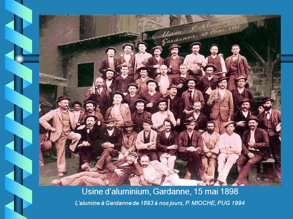 Usine d'aluminium, Gardanne, 15 mai 1898