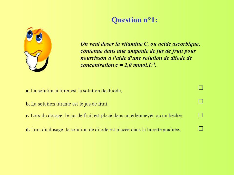 Question n°1: