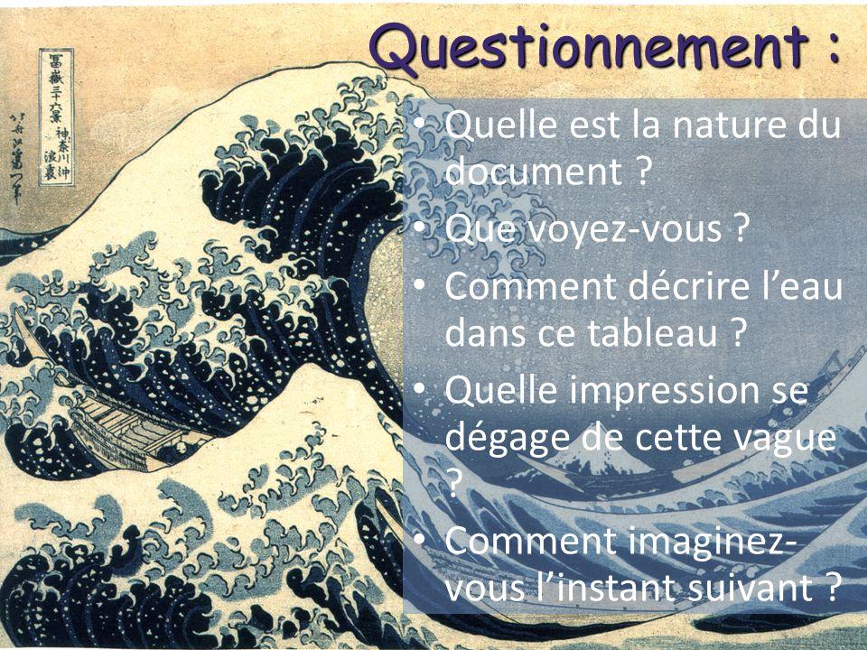 Questionnement : Objectifs 5è : Quelle est la nature du document
