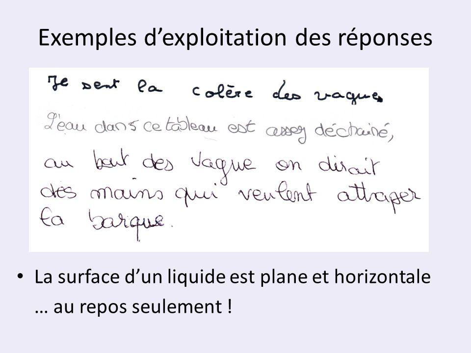Exemples d'exploitation des réponses