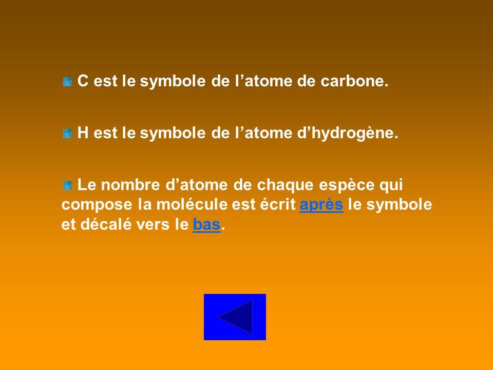 C est le symbole de l'atome de carbone.