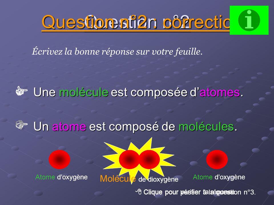 Une molécule est composée d'atomes.
