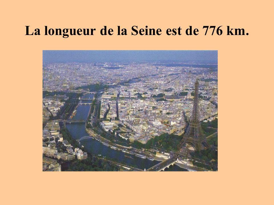 La longueur de la Seine est de 776 km.