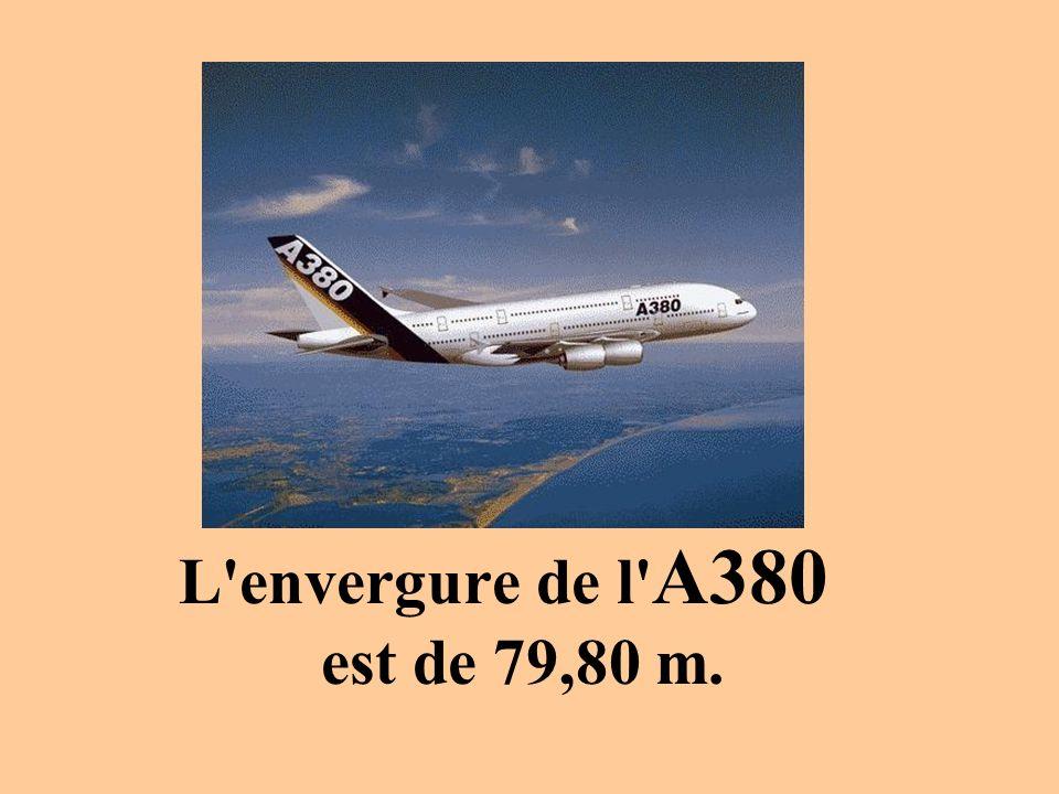 L envergure de l A380 est de 79,80 m.