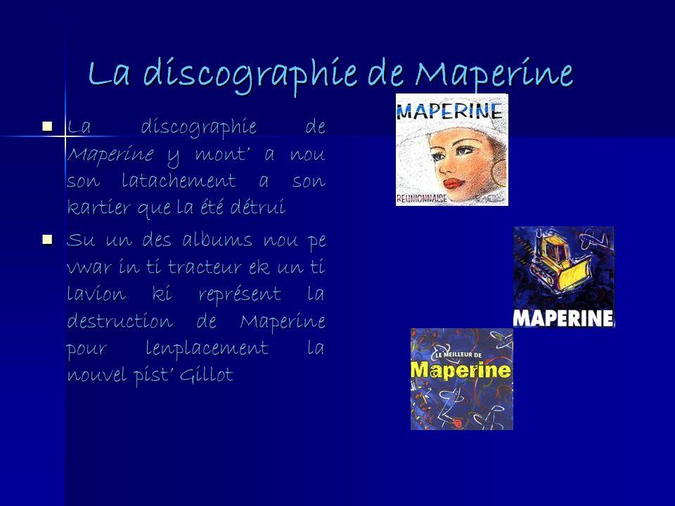 La discographie de Maperine