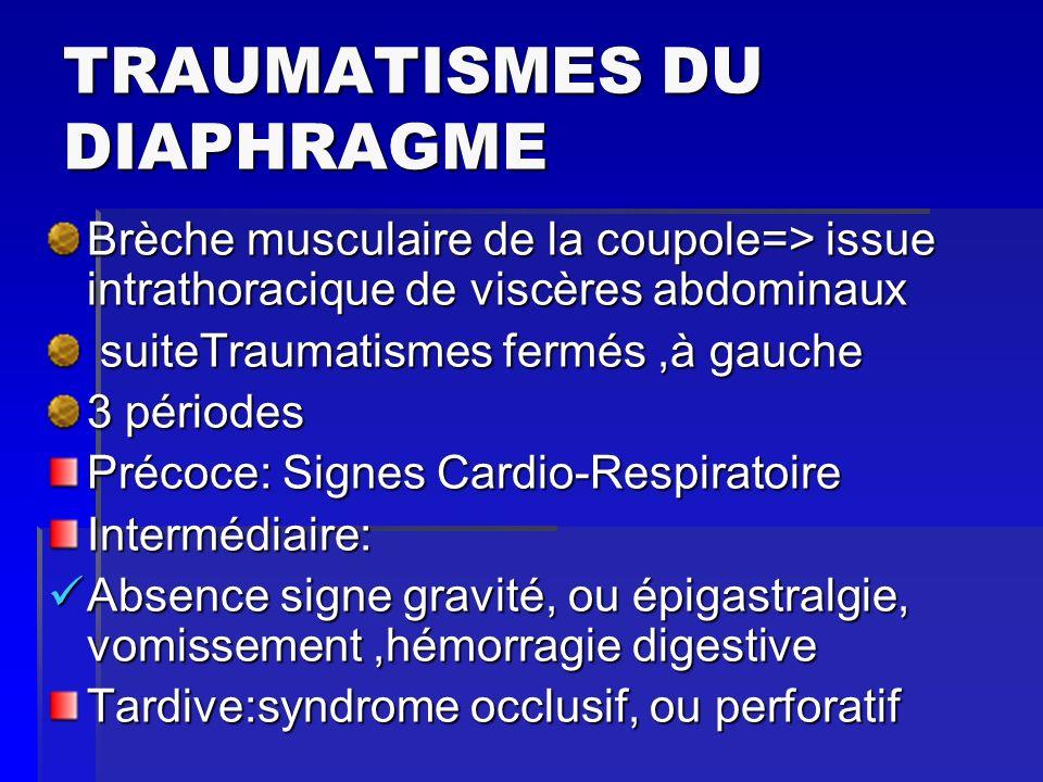 TRAUMATISMES DU DIAPHRAGME