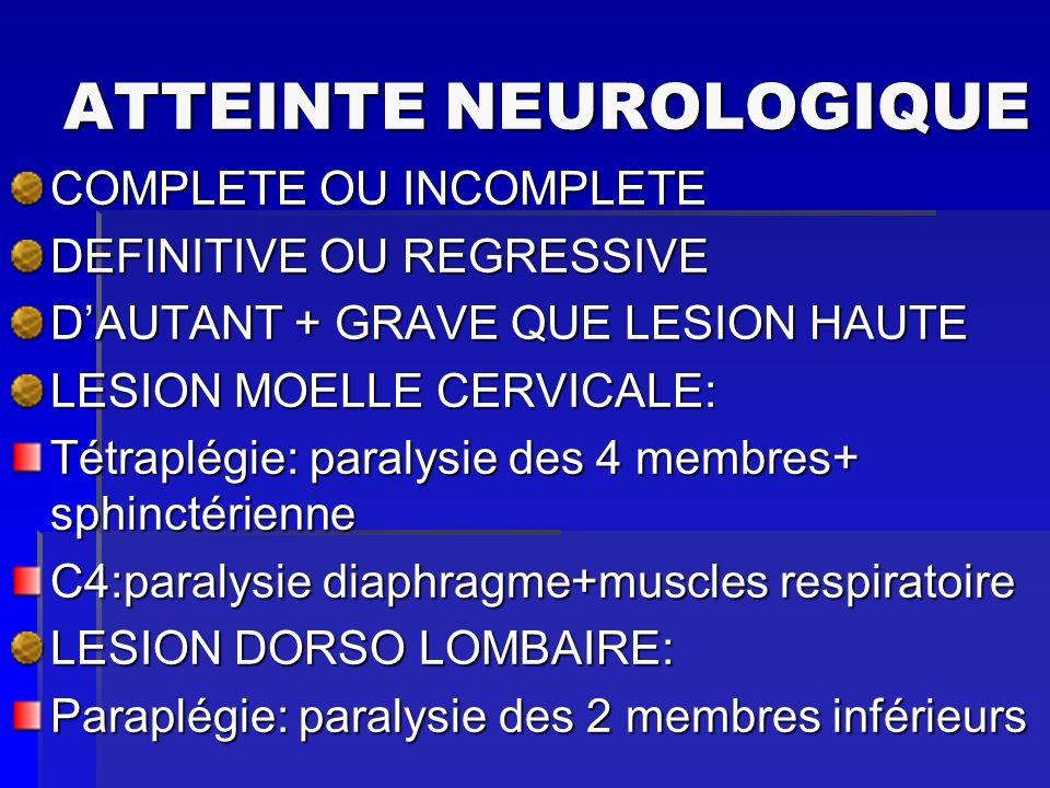 ATTEINTE NEUROLOGIQUE