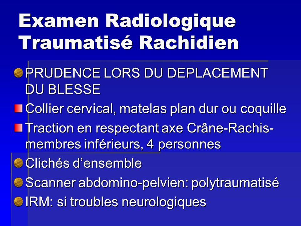 Examen Radiologique Traumatisé Rachidien