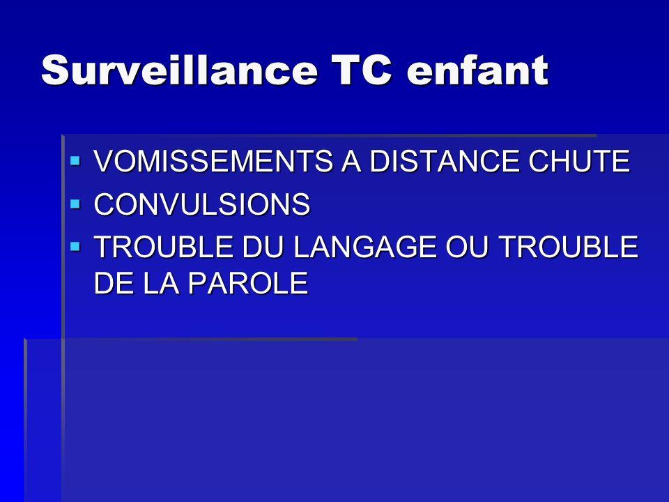 Surveillance TC enfant