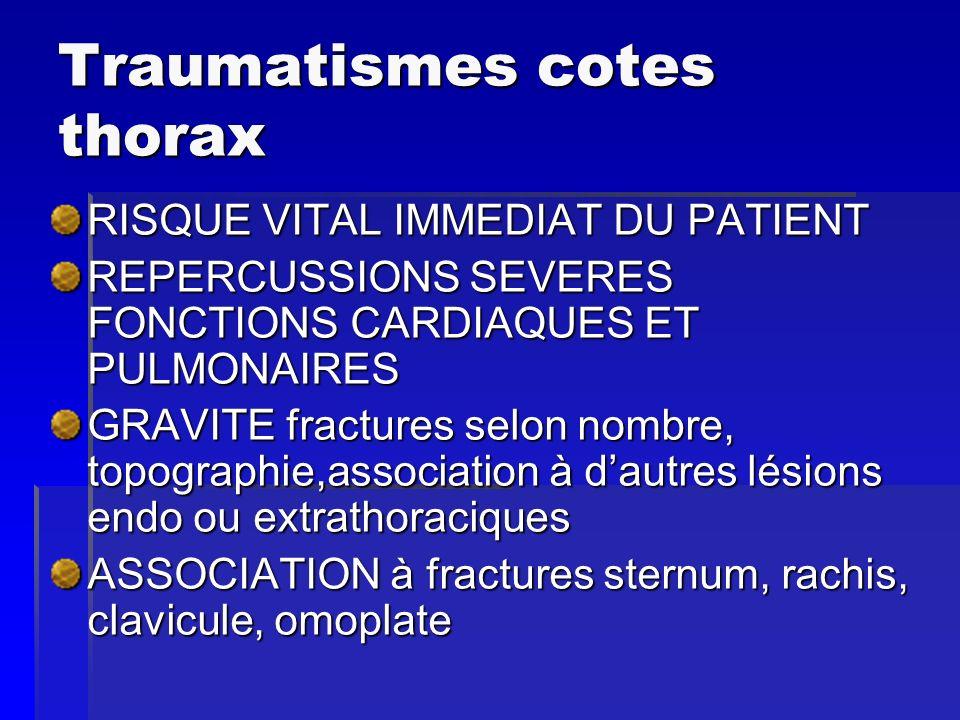 Traumatismes cotes thorax