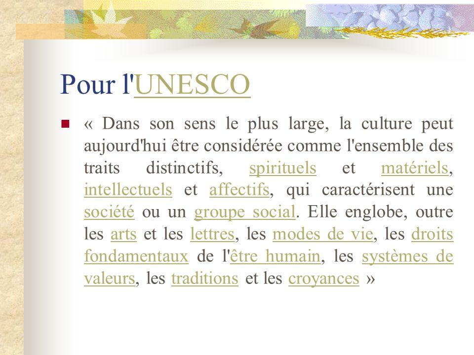 Pour l UNESCO