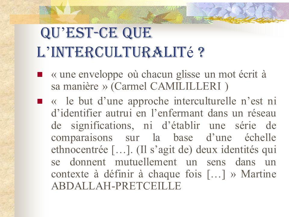 Qu'est-ce que l'interculturalité
