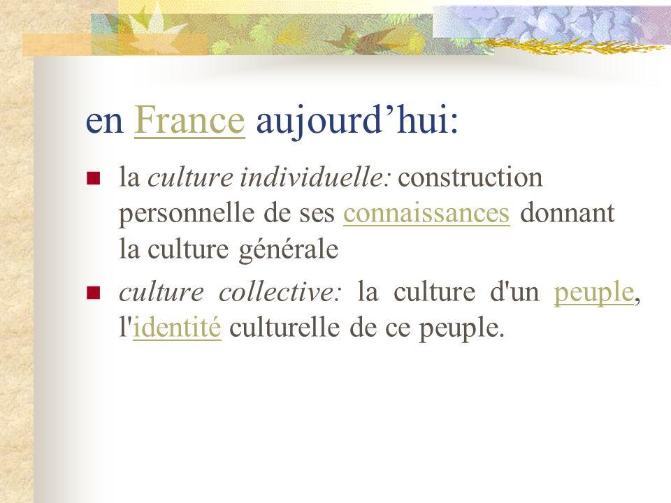 en France aujourd'hui: