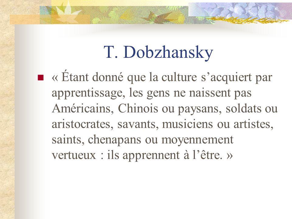 T. Dobzhansky