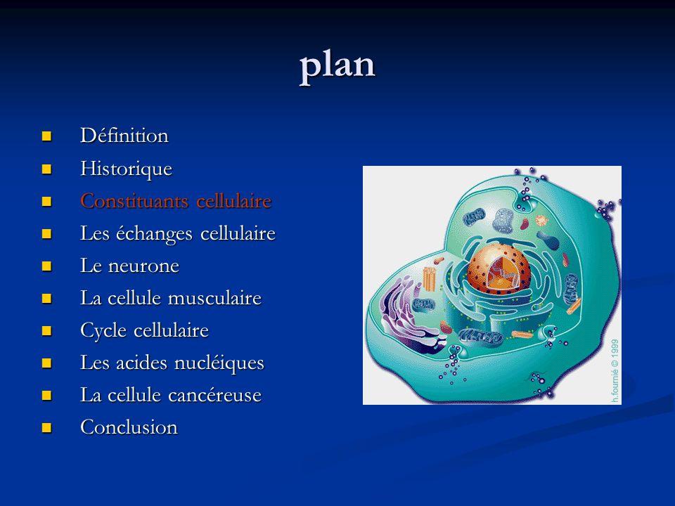 plan Définition Historique Constituants cellulaire