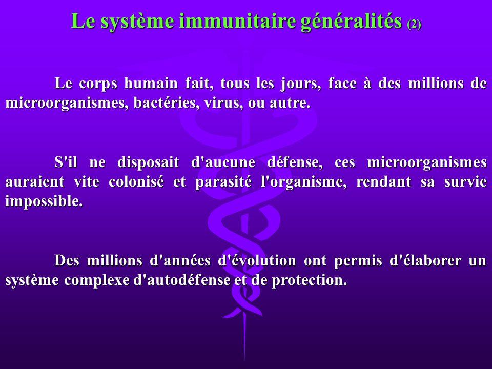 Le système immunitaire généralités (2)