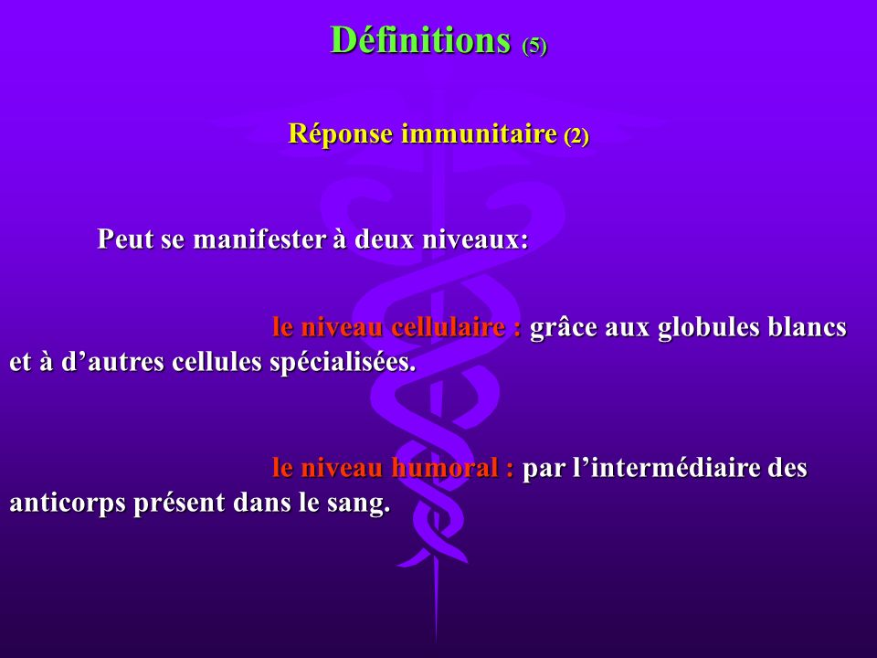 Réponse immunitaire (2)