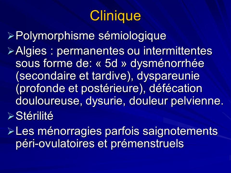 Clinique Polymorphisme sémiologique