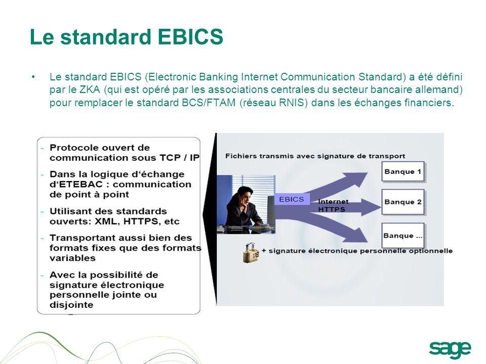 Le standard EBICS