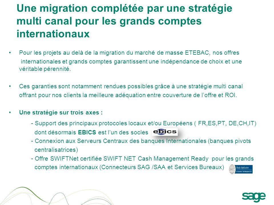Une migration complétée par une stratégie multi canal pour les grands comptes internationaux