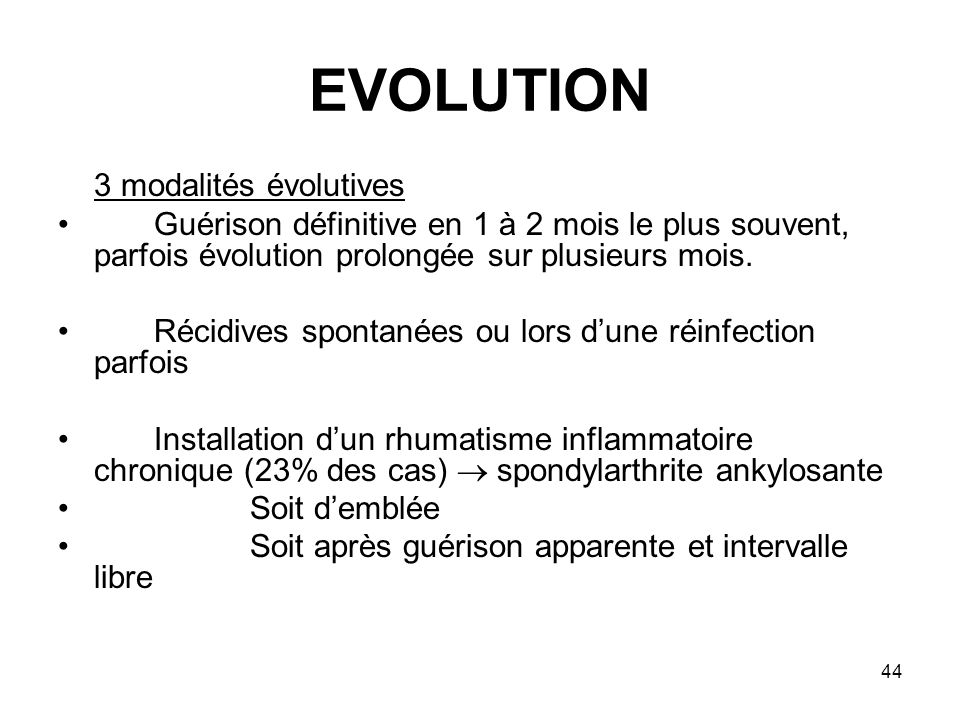 EVOLUTION 3 modalités évolutives
