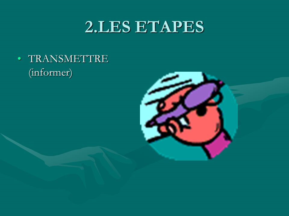2.LES ETAPES TRANSMETTRE (informer)