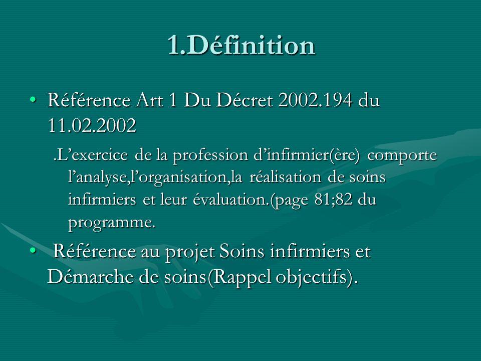 1.Définition Référence Art 1 Du Décret 2002.194 du 11.02.2002