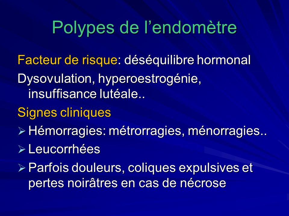 Polypes de l'endomètre