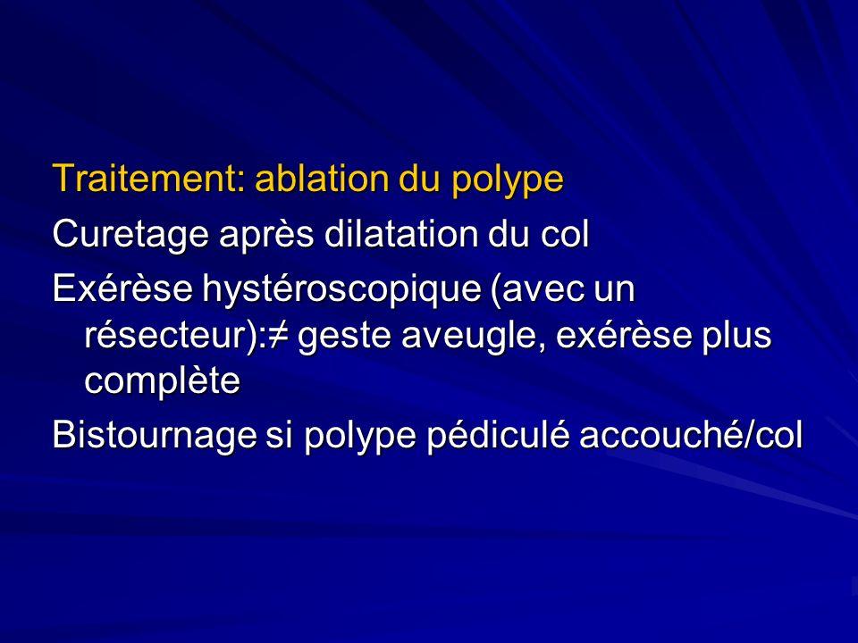 Traitement: ablation du polype