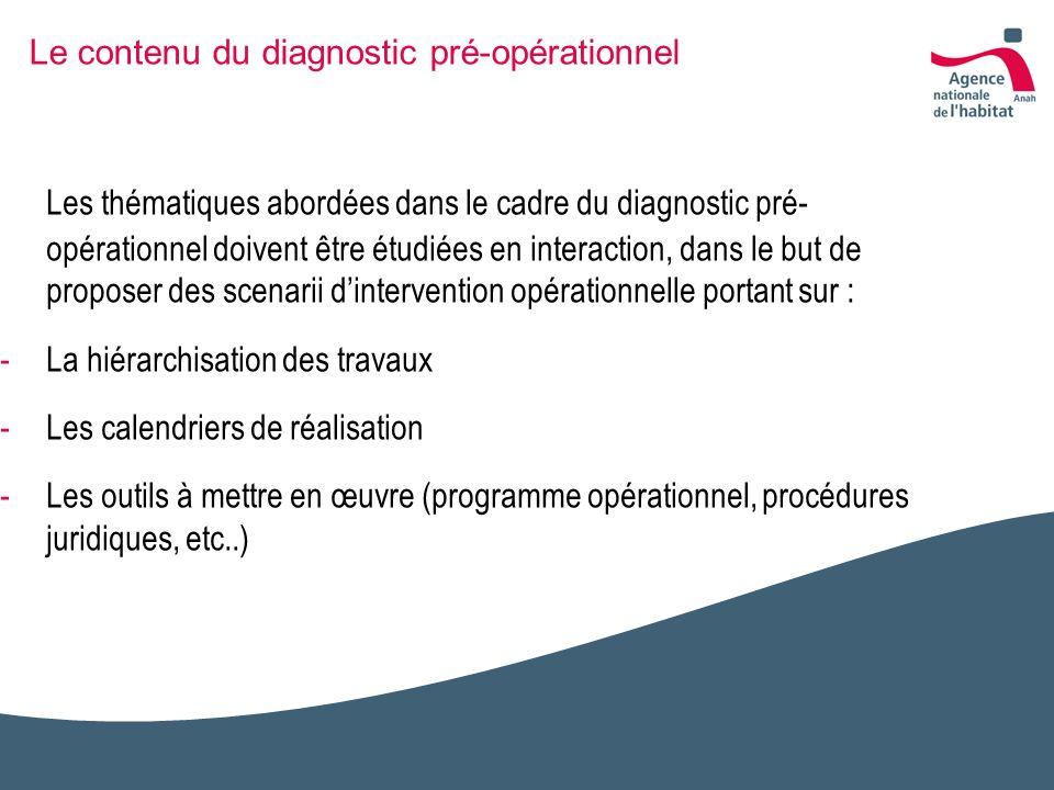 Le contenu du diagnostic pré-opérationnel