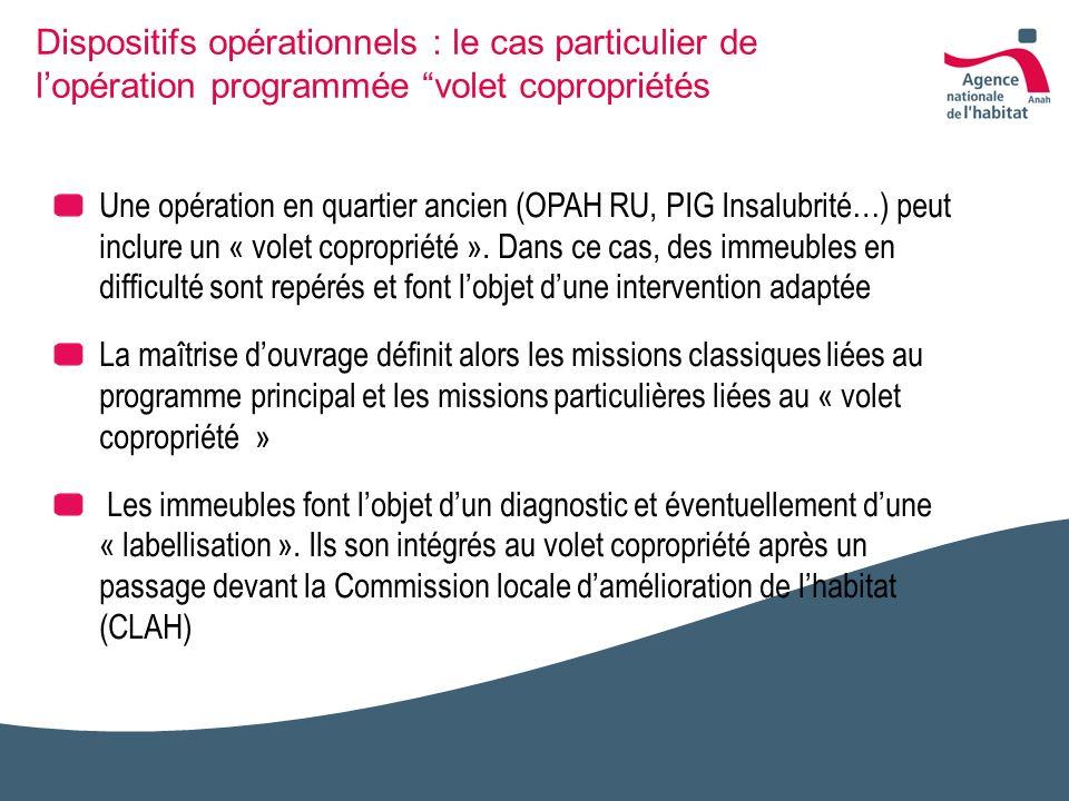 Dispositifs opérationnels : le cas particulier de l'opération programmée volet copropriétés