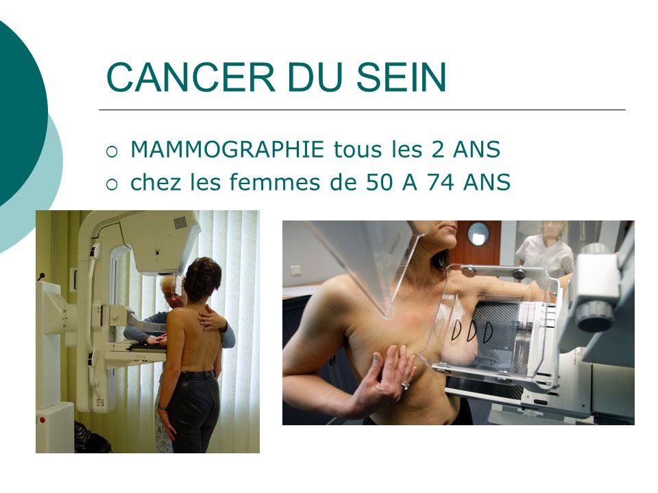 CANCER DU SEIN MAMMOGRAPHIE tous les 2 ANS