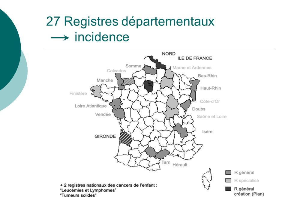 27 Registres départementaux incidence