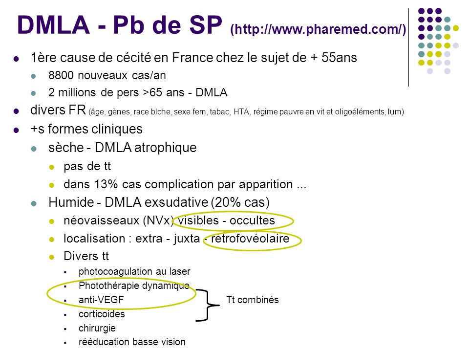 DMLA - Pb de SP (http://www.pharemed.com/)
