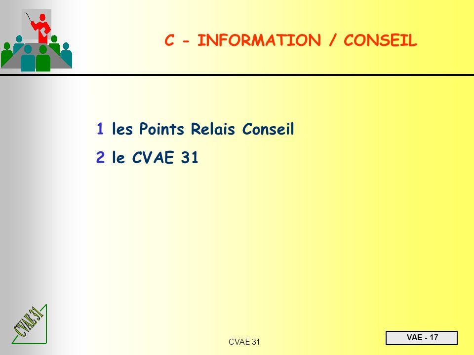 C - INFORMATION / CONSEIL