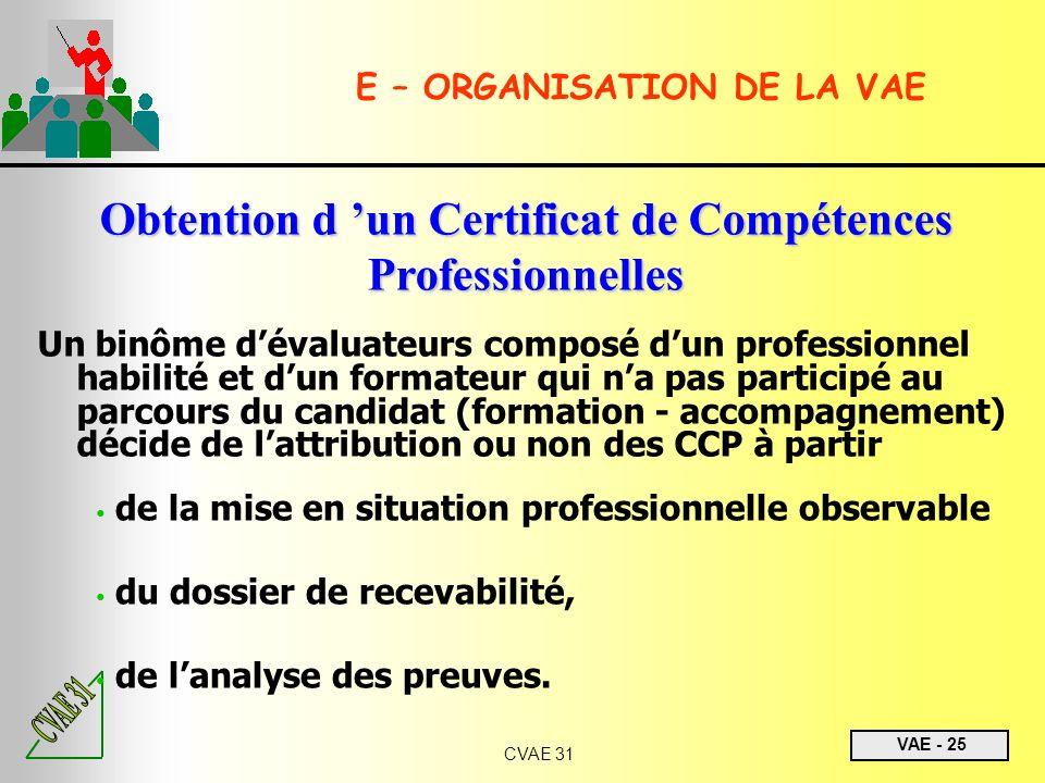 Obtention d 'un Certificat de Compétences Professionnelles
