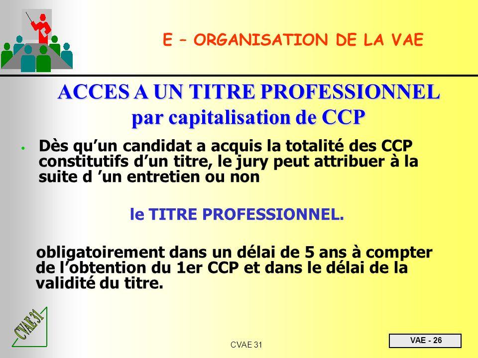 ACCES A UN TITRE PROFESSIONNEL par capitalisation de CCP