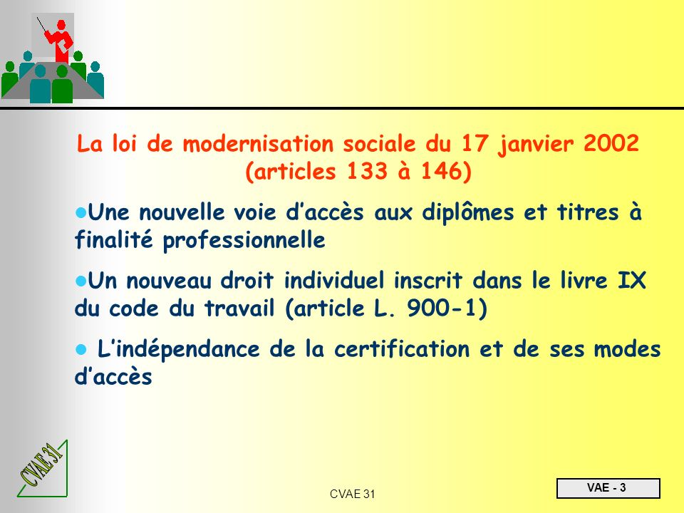 La loi de modernisation sociale du 17 janvier 2002 (articles 133 à 146)