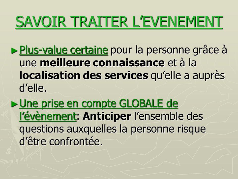 SAVOIR TRAITER L'EVENEMENT