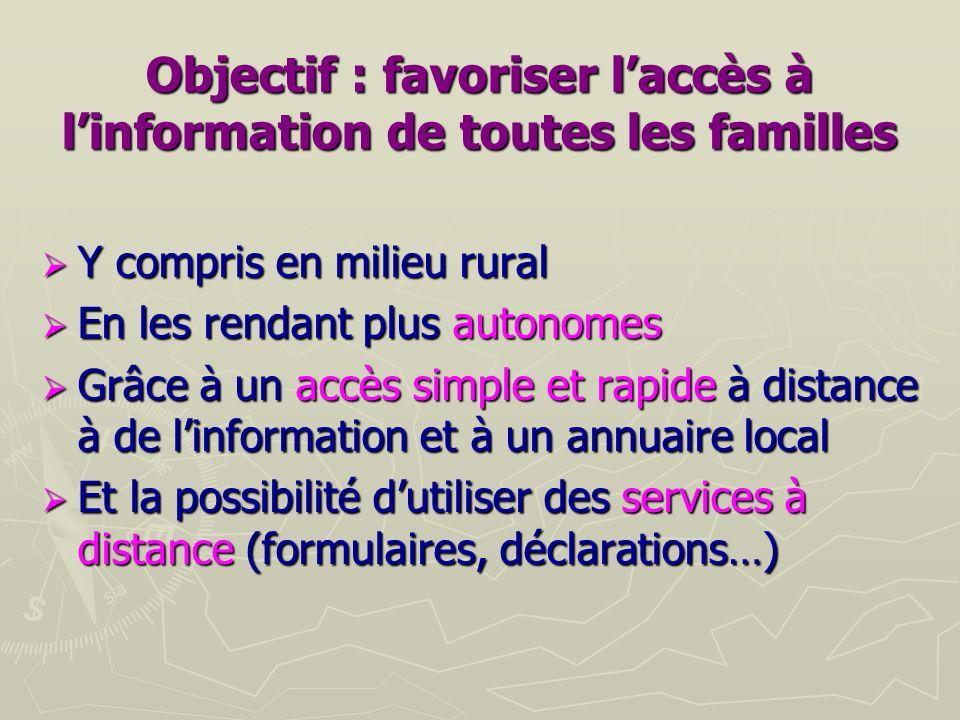 Objectif : favoriser l'accès à l'information de toutes les familles
